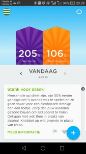 jawbone up2 slaap