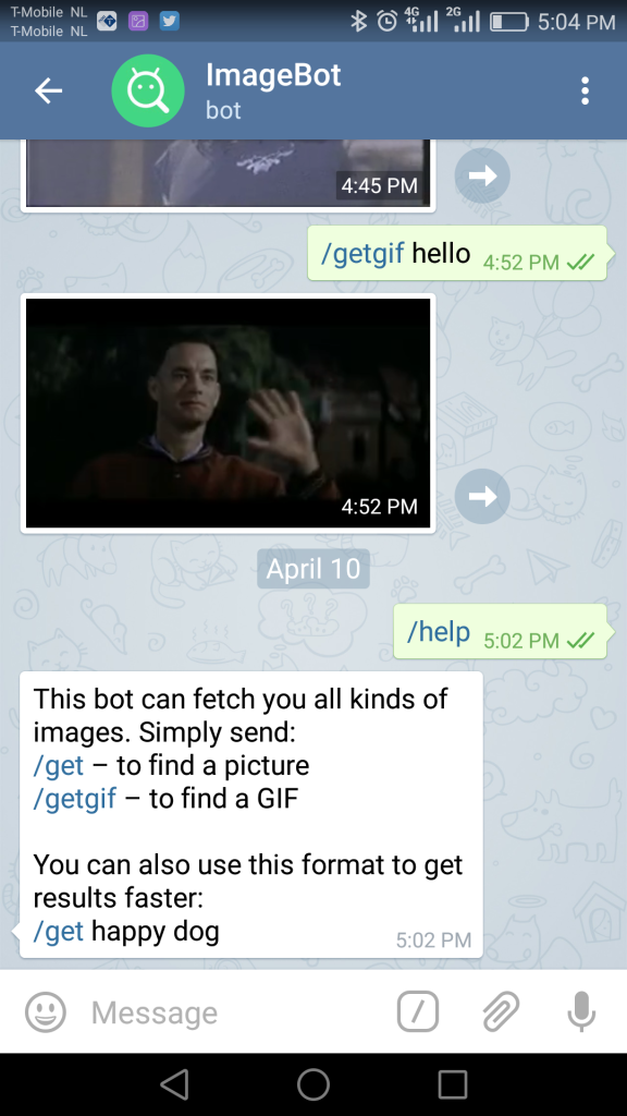telegram chat bot